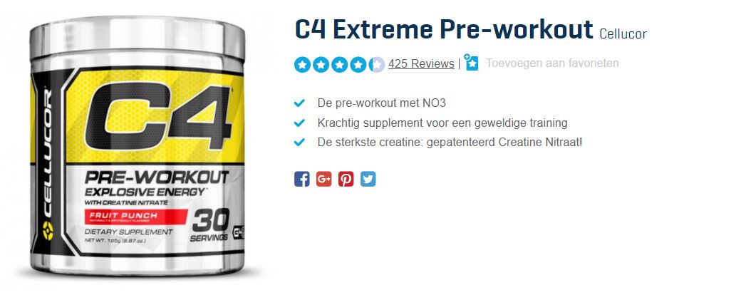 pre-workout ongezond