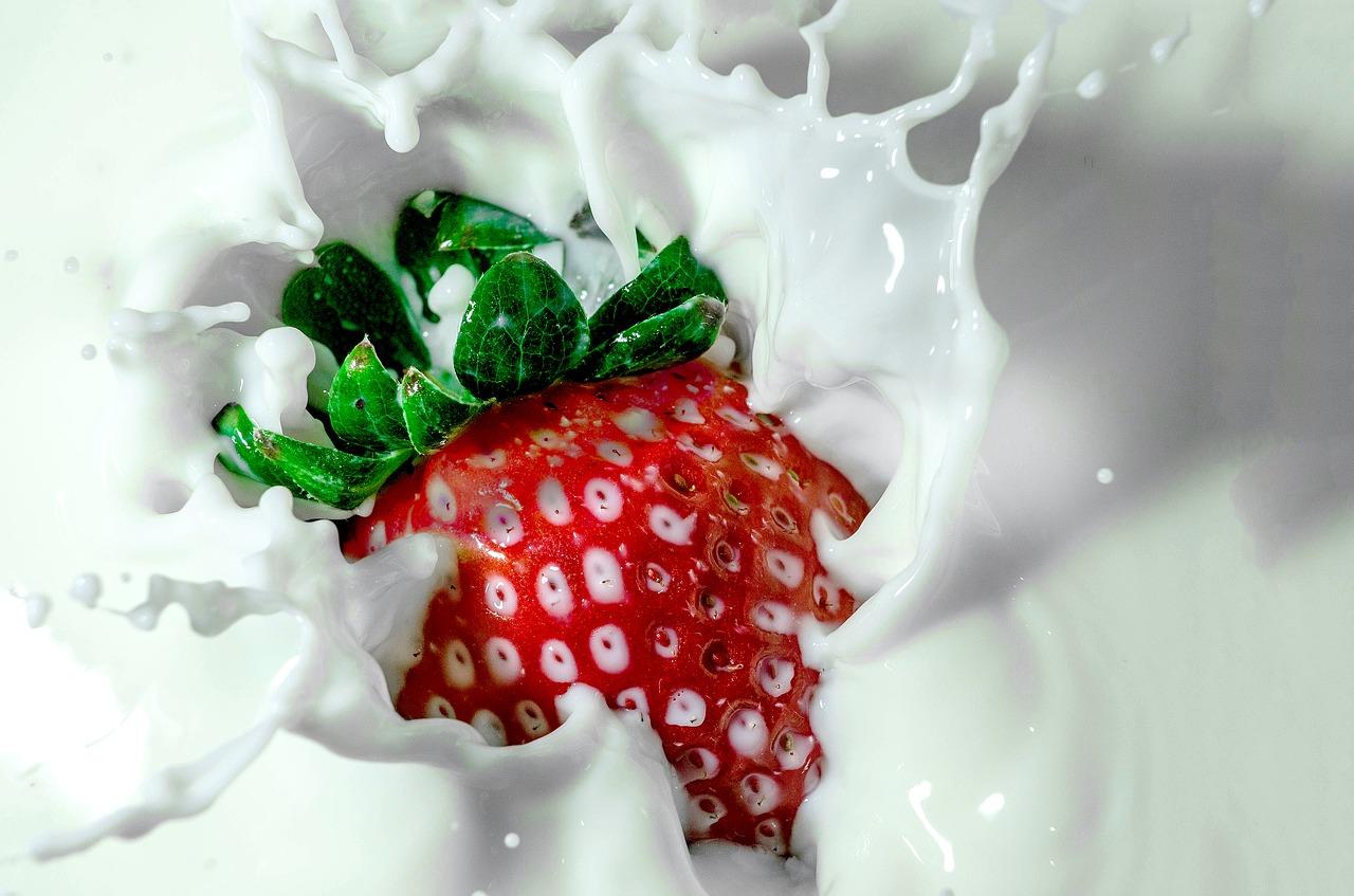 koolhydraatarme aardbeien milkshake